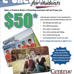 Centrue Bank $50 eChecking Account Bonus for Students in Illinois and Missouri