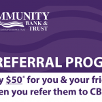 Community Bank & Trust $50 Refer A Friend Bonuses in Iowa