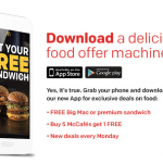 McDonald's App Offers Free Big Mac and Special Deals