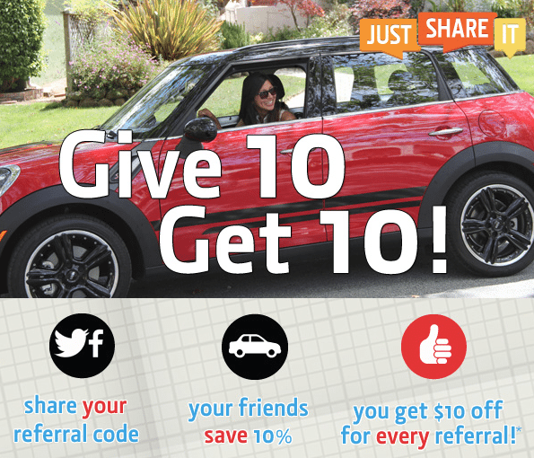 JustShareIt Car Sharing Referral Program