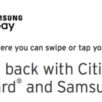 Samsung Pay $10 Free Credit with Citi MasterCard