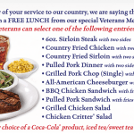 Texas Roadhouse Free Military Lunch on Veterans Day
