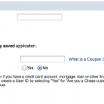 How To Enter Chase Coupon Code in Online Application