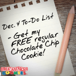 Great American Cookies Offers Free Regular Chocolate Chip Cookie on National Cookie Day (12/4/2015)