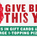 Papa John's Free Large Pizza with $25 Gift Card Purchase