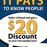 Pay2Day Payday Loans Referral Program $20 Discount in Ontario, Canada