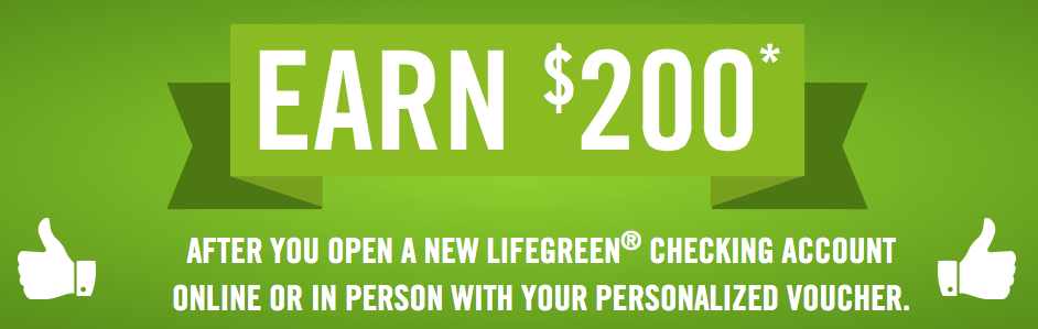 Regions Bank LifeGreen Checking Account Bonus