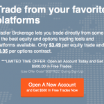 Tradier Brokerage Account Promotion $500 in Free Trades