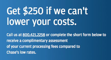 Chase merchant services 250 bonus to lower fees chase merchant services promotion reheart Image collections