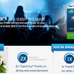 Citi ThankYou Preferred Card 10,000 Bonus Points and $100 Live Nation Ticket Credit
