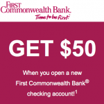 First Commonwealth Bank $50 Personal Checking and $150 Business Checking Bonus in PA and OH