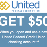 United Federal Credit Union $50 New Checking Bonus and Referral Program (AR, IN, MI, NC, NV, OH and OK)
