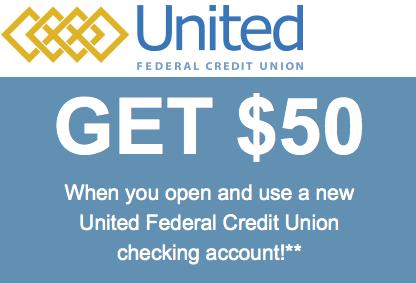 United Federal Credit Union $50 New Checking Referral Bonus
