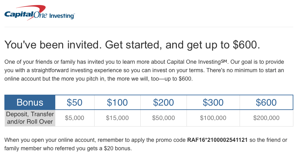 Capital One Investing Builder