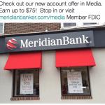 Meridian Bank $75 Savings or Money Market Account Bonus in Pennsylvania