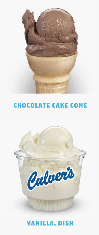 Culvers Receipt Survey Free Ice Cream Cone