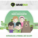 Grab Ridesharing Service in Southeast Asia $8 Referral Program Credits