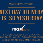 Max Delivery – 1 Hour NYC Grocery Delivery – $20 Discount and $5 Referrals