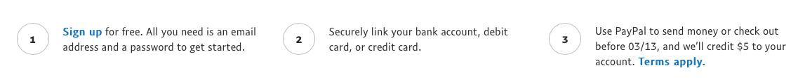PayPal 5 Account Bonus Instructions