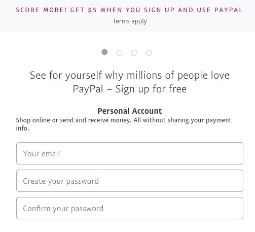 PayPal Application Bonus Promotion