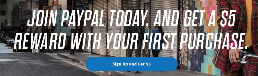 PayPal New Account Opening Bonus