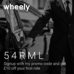 Wheely Ride Service App in UK and Russia £10 Referral Credits