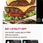 Burger 21 Offers Free Cheesy Burger to Download App – Ends May 27th