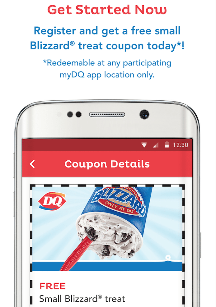 picture relating to Dairy Queen Printable Application referred to as Dairy queen absolutely free blizzard coupon : Landsend black friday