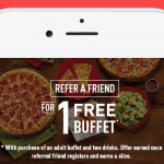 Cici's Pizza Free Buffet with My Cici's Mobile App Rewards