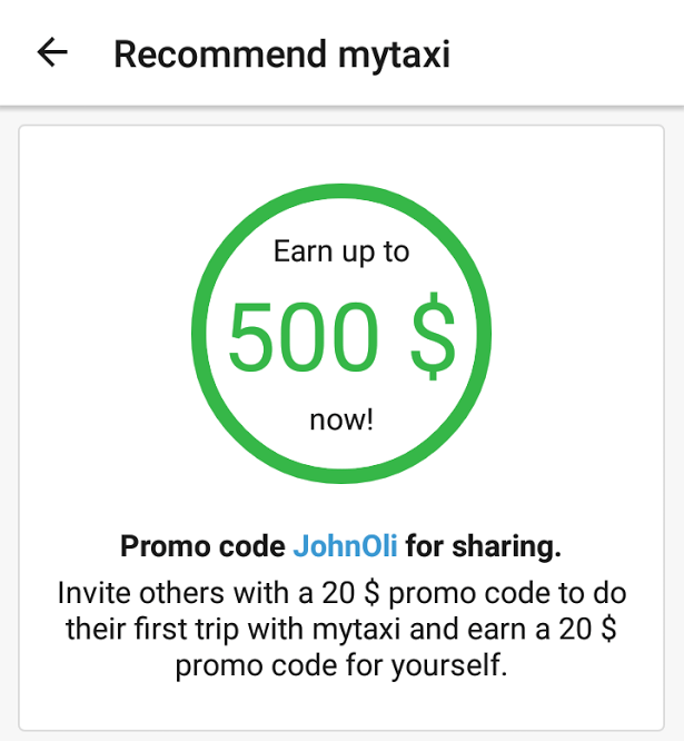 mytaxi promo code germany