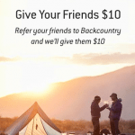 Backcountry Outdoor Gear and Clothing $10 Discount