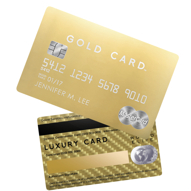 Luxury Card From Barclaycard: Titanium, Black & Gold