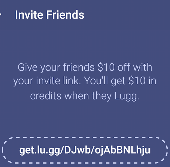 Lugg On-Demand Mover App $20 Referral Credits and $20 Discount