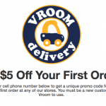 Vroom Delivery Service $5 Free Credit and $5 Referrals – El Paso and Cincinnati