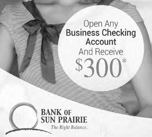 Bank of Sun Prairie $300 Business Checking Account Bonus