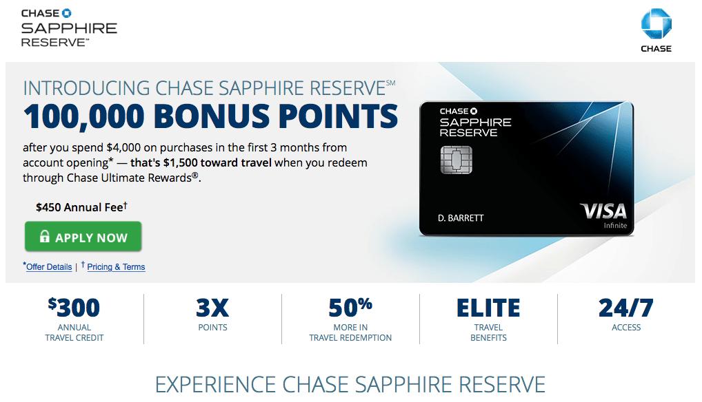 $ 300 jährliche Reise Kredit chase Reserve