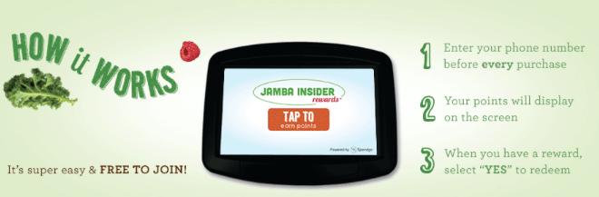 Jamba Juice Insider Restaurant Rewards Program