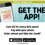 Tropical Smoothie Cafe App $5 Free Credit and $5 Referral Bonuses