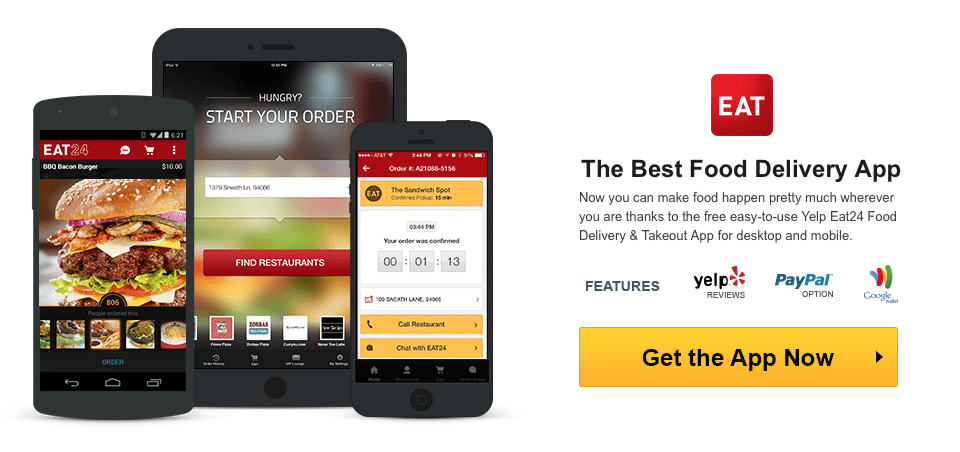 Yelp Food Delivery App