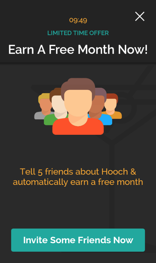 Hooch Free Month Plan Sharing App