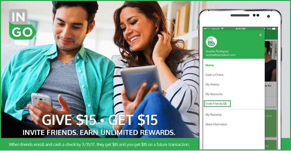 Ingo Money 15 Check Cashing Bonus