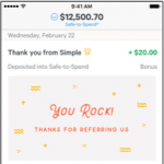 Simple Bank Account Referral Program