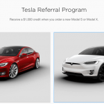 Tesla Motors Referral Program $1,000 New Purchase Credit and Owner Rewards