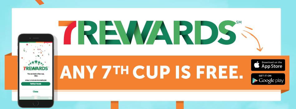 7-Eleven 7Rewards App - Get a Free Coffee or Snack to Download