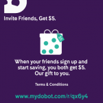 Dobot Automatic Money Saving App $5 Instant Bonus and $5 Referrals