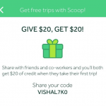 Scoop Work Commute Carpooling Service $20 Referral Credits