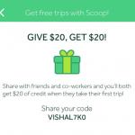 Scoop Carpool App Referral Credits