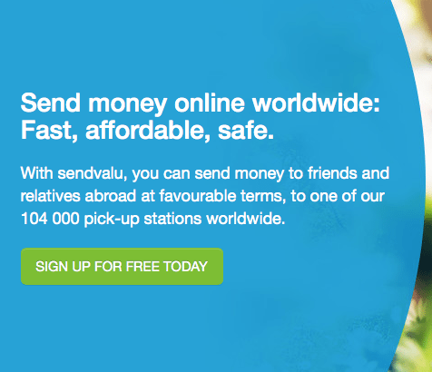 Sendvalu First Transfer Fee Free For Sending Money