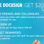 DocuSign eSignature Service 10% Discount + 30 Days Free for New Clients and $20 Referrals