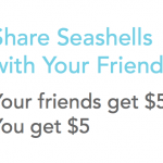 Seashells Instant Cash Back Shopping $5 Sign-Up Bonus